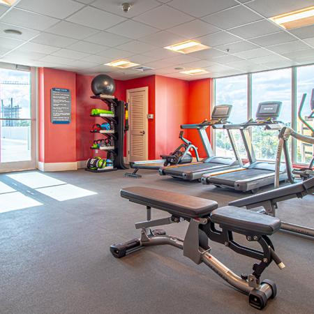 Club-quality fitness studio with machines and cardio