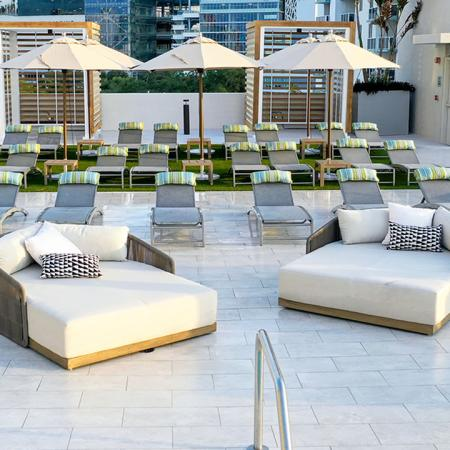 Chaise Lounges and Day Beds on Pool Deck