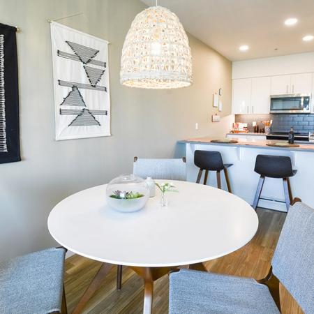 Separate dining areas