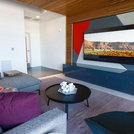 Resident lounge with big screen TV