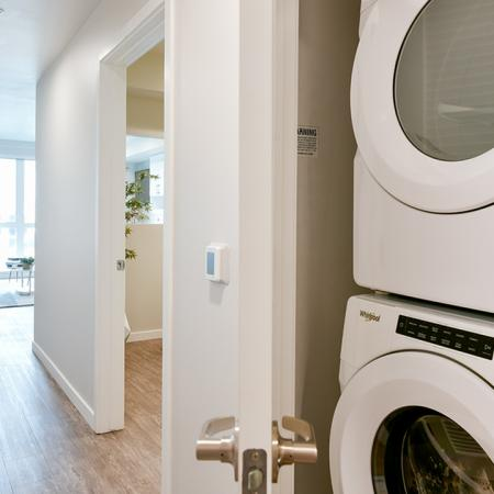Full size front loading washer and dryer