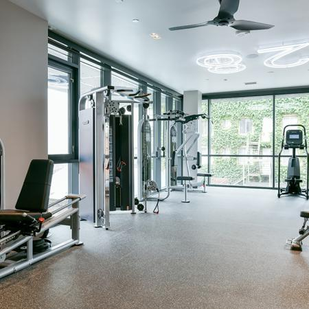 Fitness center weight stations
