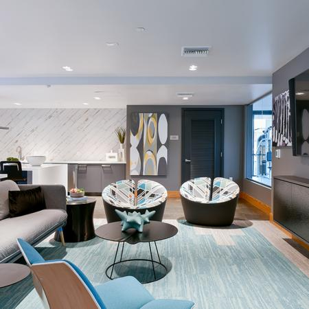 Resident lounge and entertainment area