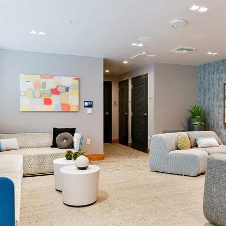 Resident lounge and work areas