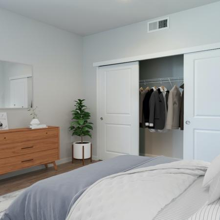 Large bedrooms with sliding closets
