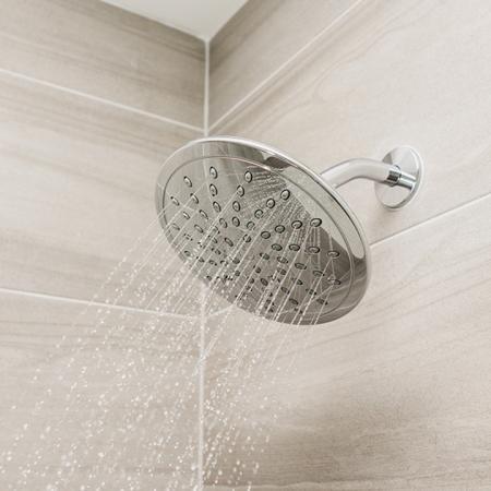 Upgraded shower fixtures in bathrooms
