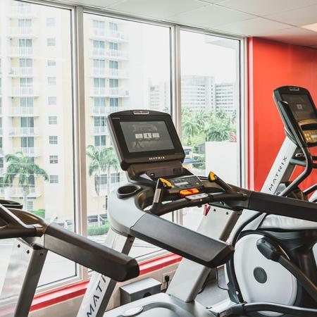 Cardio machines at Modera Skylar fitness center