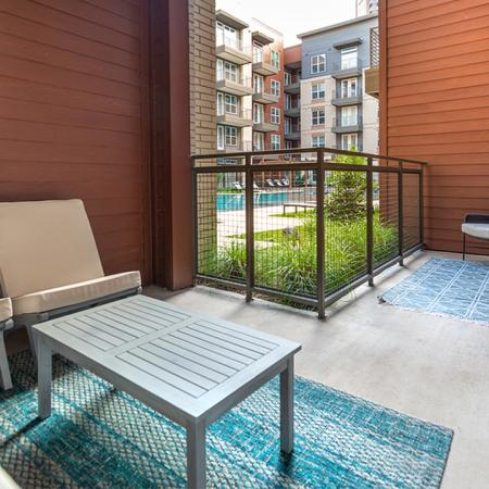 Private patio or balconies in select homes