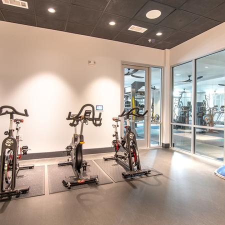 Spin studio and fitness center