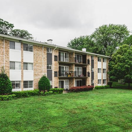Alister Falls Church exterior building with balconies and windows