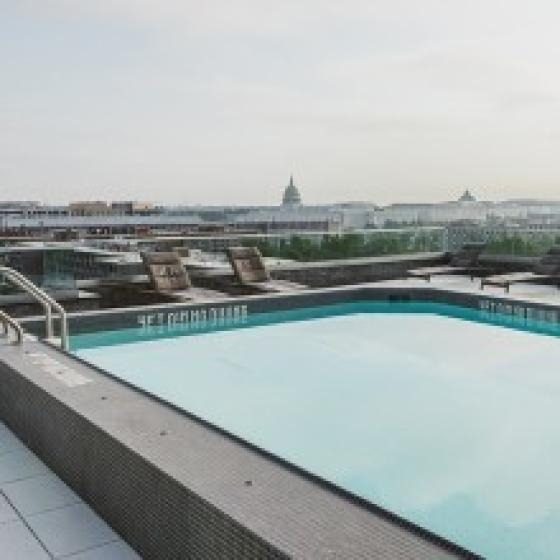 Pool with View of Capitol