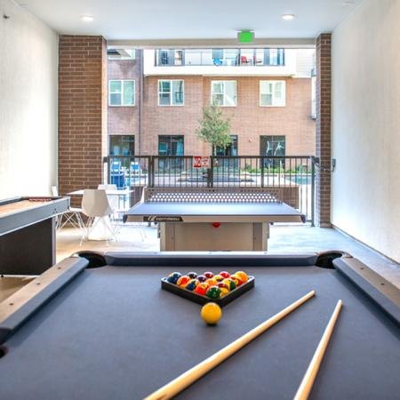 Gaming Lounge with Pool Table, Shuffleboard, and Ping Pong Table