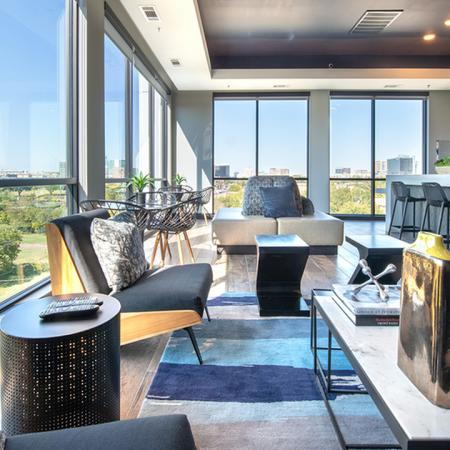 Floor to Ceiling Windows in Sky Lounge