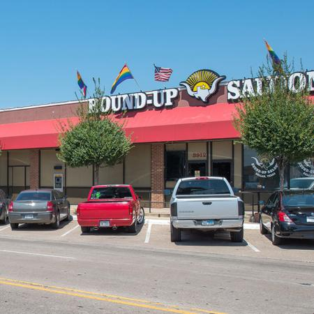 Exterior of Local Establishment Round-Up Saloon