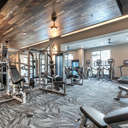 Fitness Center with Machines, Cardio Equipment, and Free Weights
