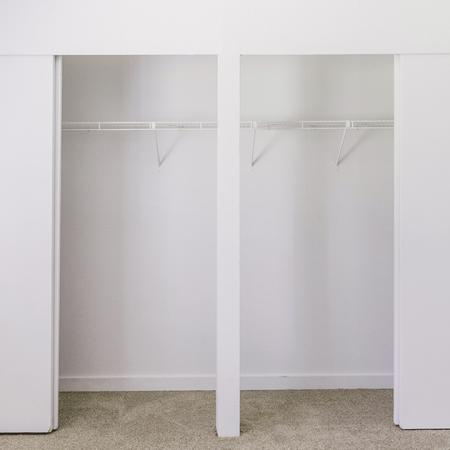 Expansive closet space