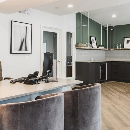 Reimagined Leasing Office with Resident Coffee Area to the side