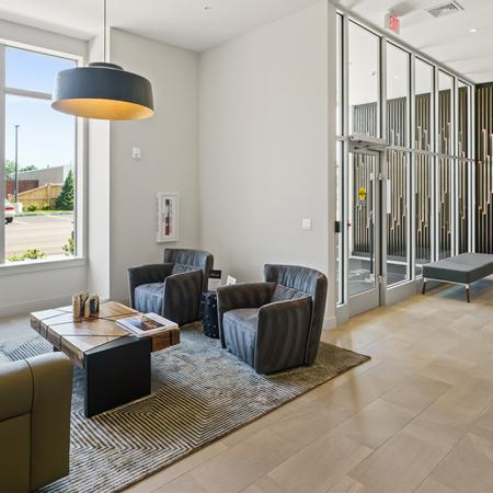 Lobby with lounge areas