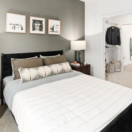 Large living room spaces with walk-through closets