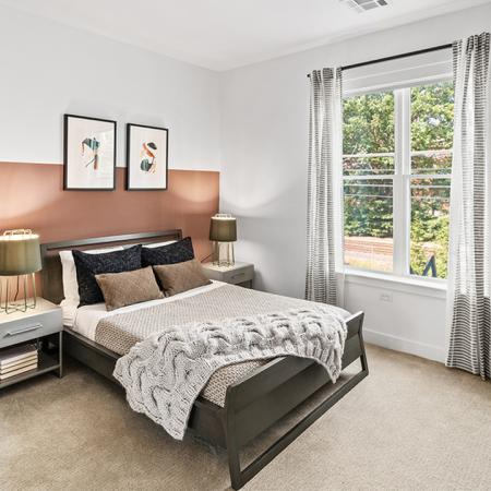Large bedrooms with closets and carpeted bedrooms