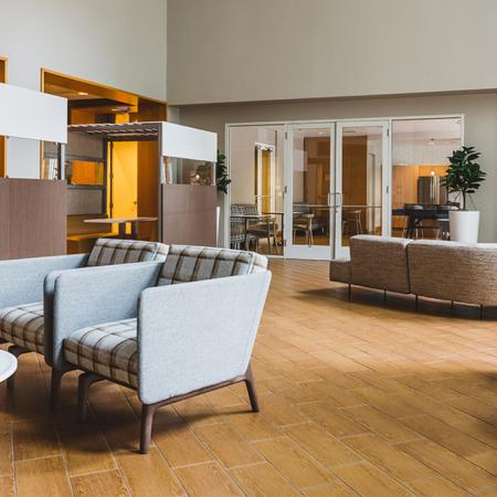 Resident lounge with semi-private cubicles and plenty of open seating