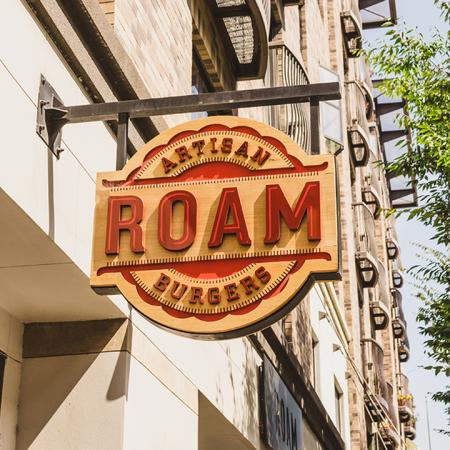 Signage for Roam burgers