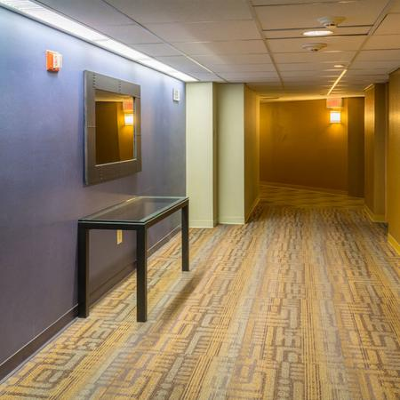 Elevator lobby in NW tower