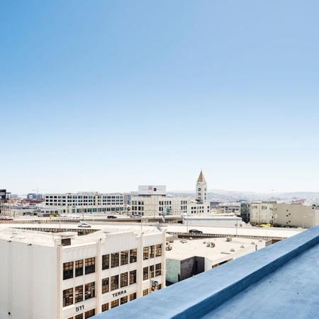 Breathtaking views from our four rooftop terraces at Modera Rincon Hill apartments.