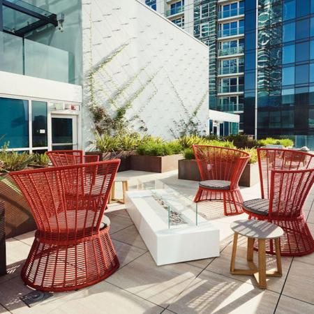 Firepit on our rooftop terrace at Modera Rincon Hill