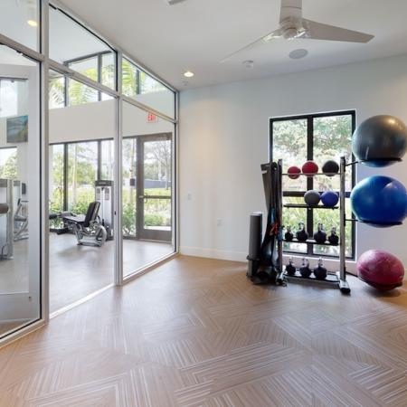 Private yoga and stretching room