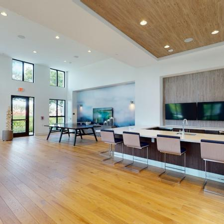 Stunning clubroom with gaming areas and large lounge spaces
