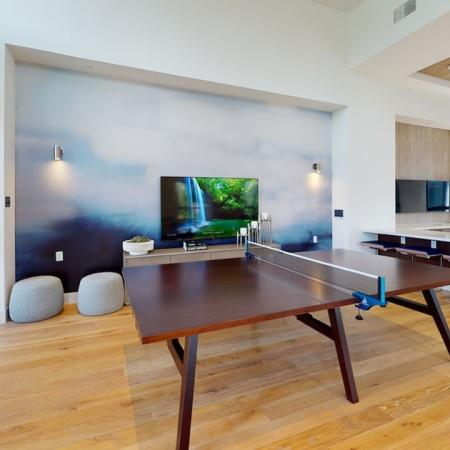 Ping pong table in the Clubroom area at Modera Cornerstone