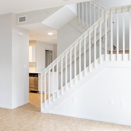 lots of natural light and staircase in alister isles apartments in ft lauderdale