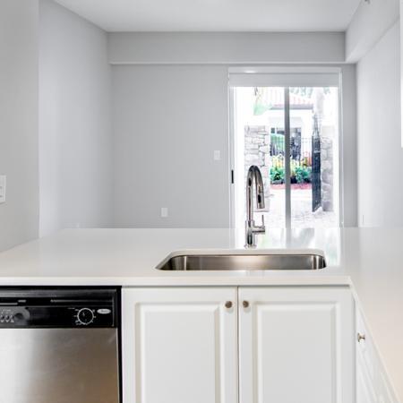 bright white kitchen at alister isles