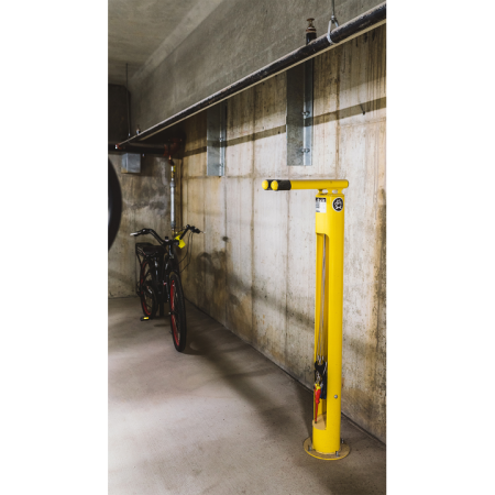 Bike room with bicycle storage and fix it station