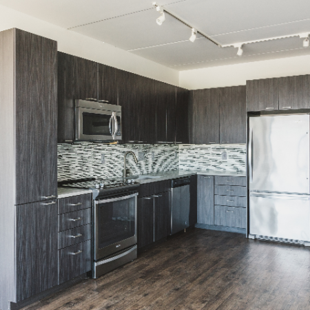 Corner kitchen with pantry and cabinet