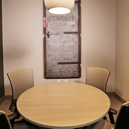 Conference room with round table for 4