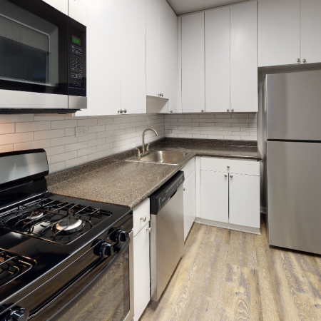 Close up of newly redesigned kitchen