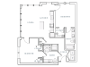 1078-1091 square foot two bedroom two bath apartment floorplan image