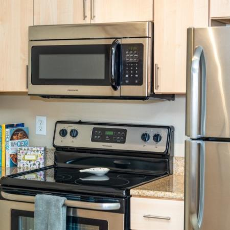 Microwave, Oven, Stove  Refrigerator
