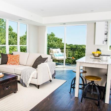 Living Area, Kitchen & Balcony