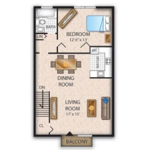 Floor Plan 4 | Apartments In Pine Hill NJ | Cedar Brook