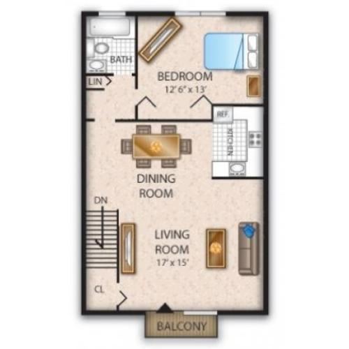 Floor Plan 7 | Pine Hill NJ Apartments | Cedar Brook