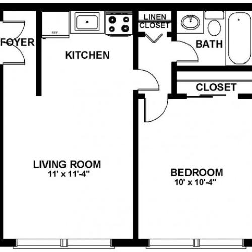 Floor Plan 16 | Apartments In Northeast Philadelphia | Canterbury Court