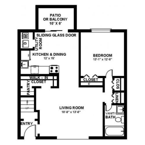 Floor Plan 10 | Apartments For Rent In Bensalem Pa | Franklin Commons