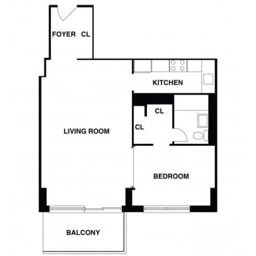 2D Floor Plan 3 | Luxury Apartments In Somerset NJ | The Harrison
