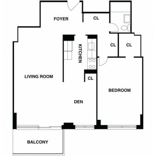Floor Plan 9 | Somerset NJ Luxury Apartments | The Harrison