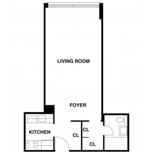 2D Floor Plan 21 | Somerset Apartments | The Harrison