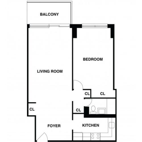 2D Floor Plan 24 | Somerset NJ Luxury Apartments | The Harrison