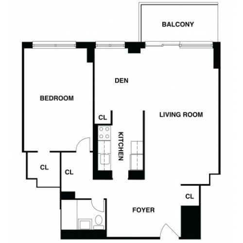 2D Floor Plan 27 | Somerset Apartment | The Harrison